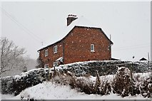 TQ5944 : New Cottage in a snow storm by N Chadwick