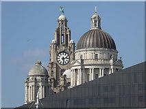SJ3390 : Iconic juxtaposition - Liverpool skyline by Chris Allen