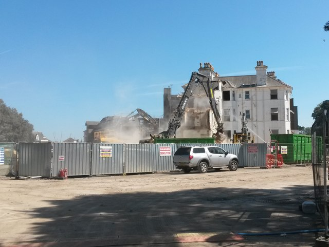 Bournemouth: demolition of the Wessex Hotel