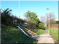 SE2133 : Pedestrian path to the Owlcotes Centre  by Stephen Craven
