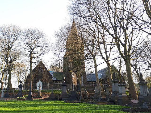 Pudsey Cemetery - chapels
