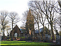 SE2133 : Pudsey Cemetery - chapels by Stephen Craven
