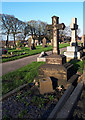 SE2133 : Pudsey Cemetery - grave of Harold Marsh and his parents by Stephen Craven