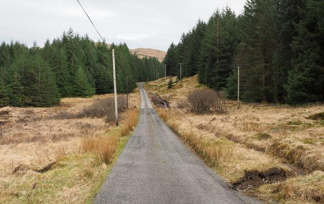 Road through Glen Leidle