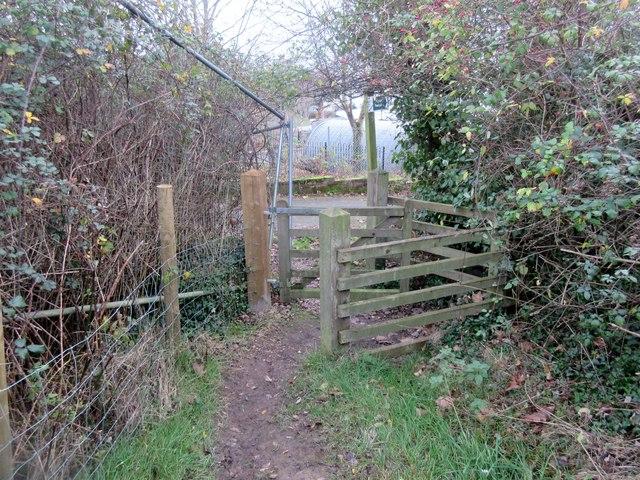 Kissing gate leading to Exwick Lane