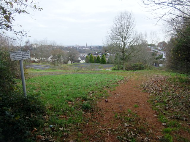 Site of the demolished Exwick Middle School
