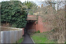 TQ2163 : Footpath under the railway line by N Chadwick