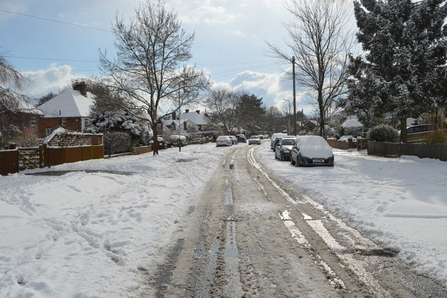 Snow, Newlands Rd by N Chadwick