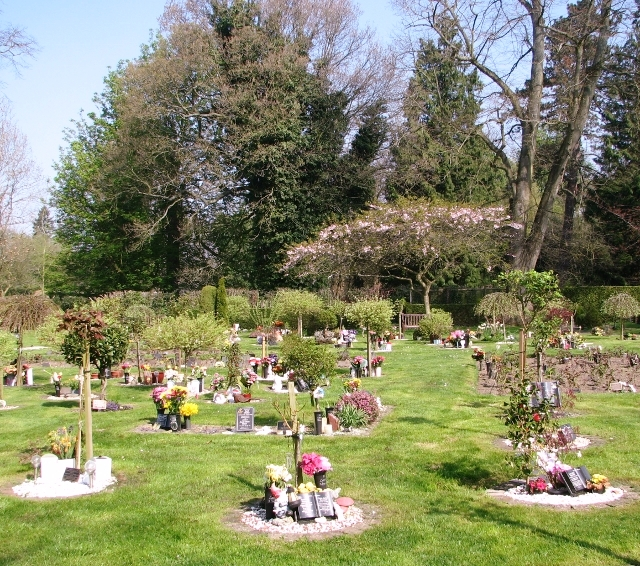 Burials of ashes in the gardens of remembrance