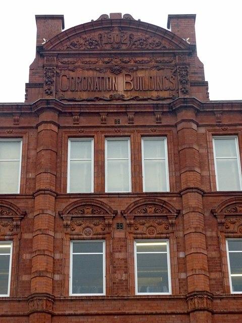 Coronation Buildings, Vicar Lane – detail