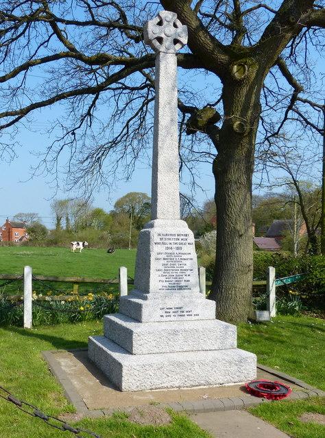 War memorial at Stretton