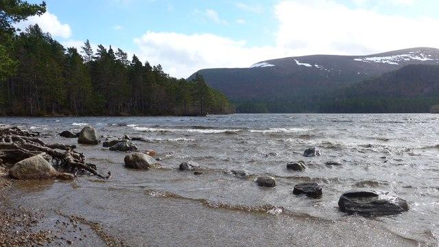 White tops on Loch an Eilein