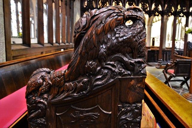 Launceston, St. Mary Magdalene's Church: Bench end 1