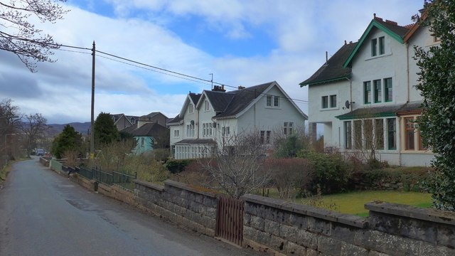 Fine houses on Gynack Road, Kingussie