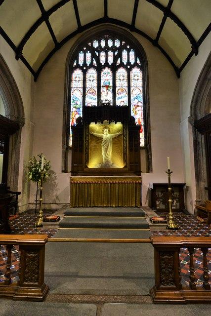 Launceston, St. Mary Magdalene's Church: Looking towards the reredos
