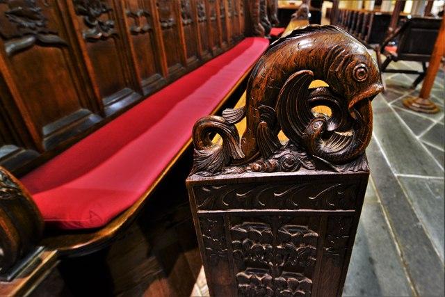 Launceston, St. Mary Magdalene's Church: Bench end 2