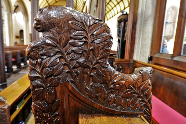 Launceston, St. Mary Magdalene's Church: Bench end 5