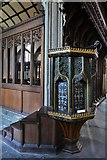 SX3384 : Launceston, St. Mary Magdalene's Church: The early c16th pulpit 1 by Michael Garlick