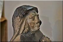 SX3384 : Launceston, St. Mary Magdalene's Church: The Piper effigies (detail) 1 by Michael Garlick