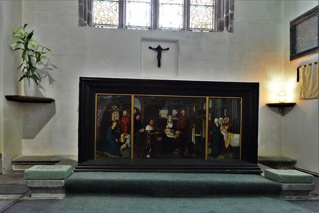 Launceston, St. Mary Magdalene's Church: The Lady Chapel altar