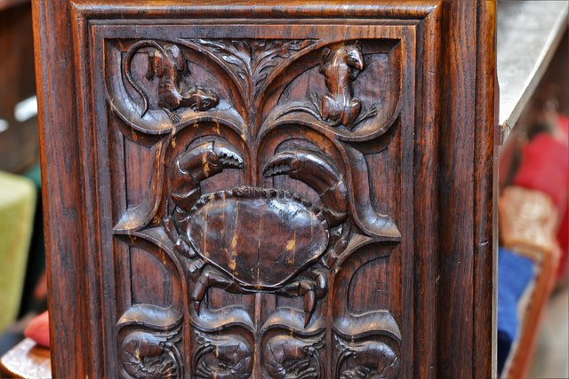 Launceston, St. Mary Magdalene's Church: Fine late Victorian bench ends 2