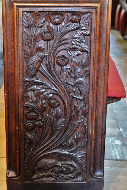 Launceston, St. Mary Magdalene's Church: Fine late Victorian bench ends 6