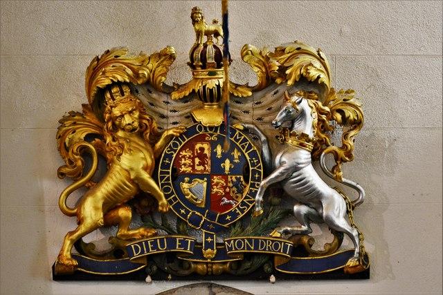 Launceston, St. Mary Magdalene's Church: Royal Coat of Arms