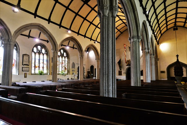 Launceston, St. Mary Magdalene's Church: The nave from the north aisle