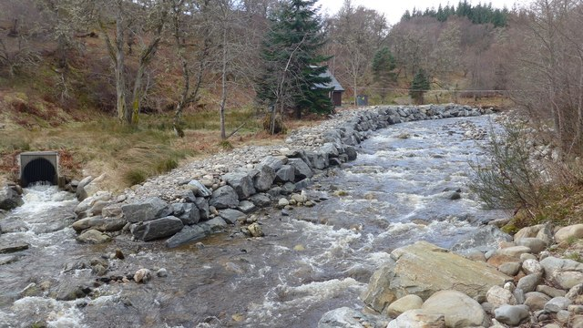 The Gynack Burn with hydro outflow