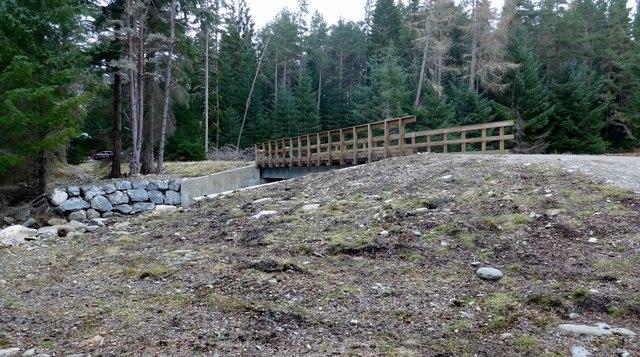 New bridge on the Pitmain Estate