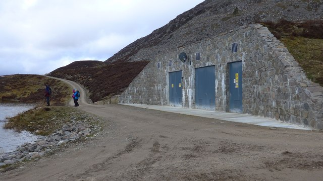 Carefully disguised hydro-power generating station by Loch Gynack