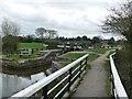 SK1715 : Towpath walkway at Alrewas Lock by Graham Hogg