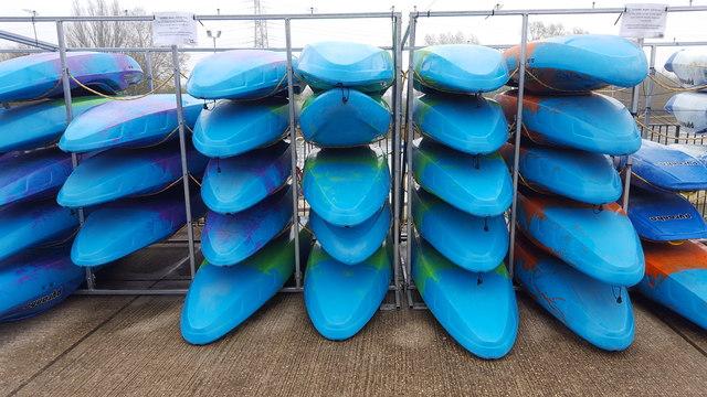 Kayaks at White Water Rafting Centre