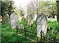 TG2108 : 19th century graves in Section 4 by Evelyn Simak