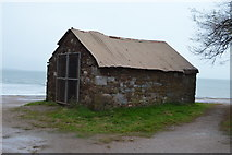 SX9573 : Hut on Sprey Point by N Chadwick
