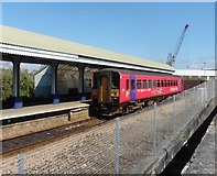SW8132 : Falmouth Docks railway station by Roger Cornfoot