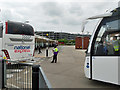 TQ0775 : Bus and coach station, Heathrow by Robin Webster