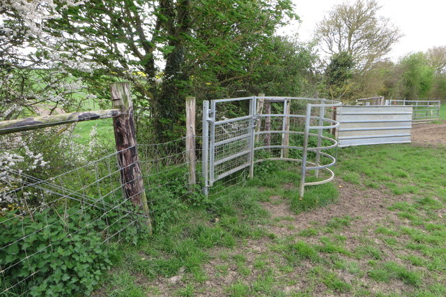 Gate on the path to Hillmount Spinney