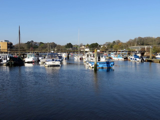 Boats moored in Lymington