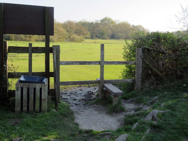 A stile at the New Forest pub