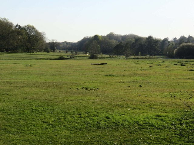 Looking over a field towards the camp site