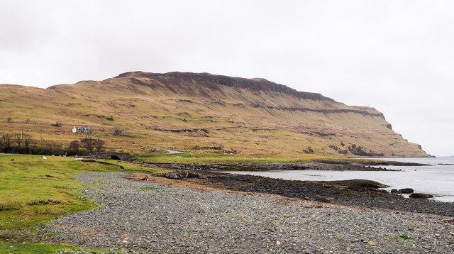 Stony shore of Loch na Keal