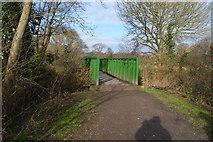 TQ2163 : Footbridge over unnamed stream by N Chadwick