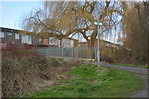 TQ2064 : Footbridge, Hogsmill River by N Chadwick