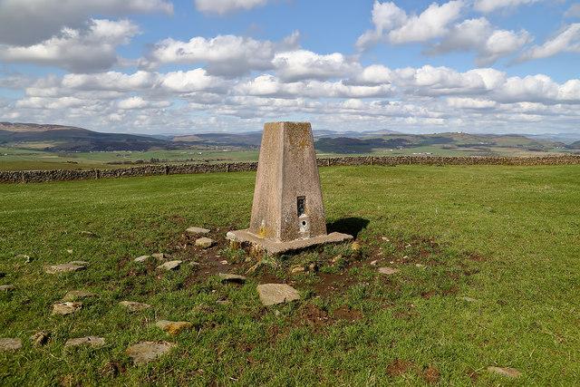 The triangulation pillar on Barnbackle Hill