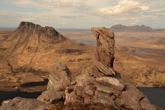 Rock Pinnacle on Beinn an Eoin, Wester Ross