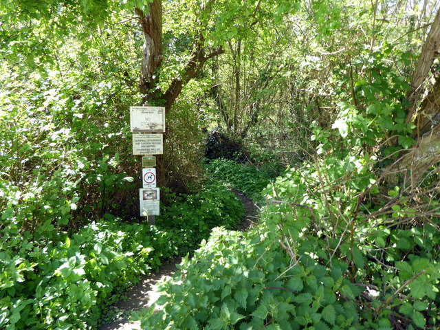 Entrance to Gillham Woods Nature Reserve