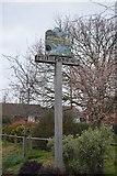 TR2057 : Littlebourne Village Sign by N Chadwick