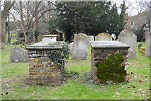 TR2157 : A pair of Tombs, Church of St Vincent by N Chadwick