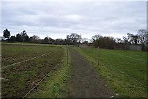 TR2157 : Footpath across field by N Chadwick